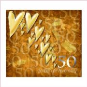 Golden Wedding Anniversary Card - 50